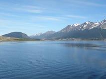 Gebieden en bergen in Usuahia Argentini? royalty-vrije stock afbeelding