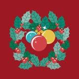Gebieden en kroon van Vrolijk Kerstmisontwerp royalty-vrije illustratie