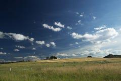Gebieden en wolken Stock Afbeelding