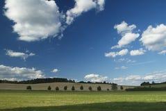 Gebieden en wolken Royalty-vrije Stock Afbeelding