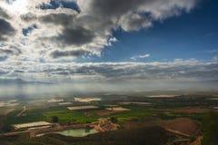 Gebieden in Murcia, Spanje II worden gecultiveerd die stock afbeeldingen