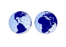 Gebieden van de aarde royalty-vrije illustratie