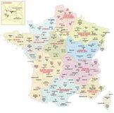 Gebieden van Frankrijk sinds 2016 stock illustratie