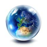 Gebiedplaneet - Europa Royalty-vrije Stock Afbeeldingen