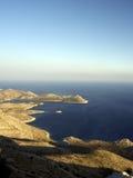Gebieds mening van eiland en kust Royalty-vrije Stock Foto's