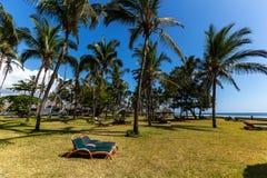 Gebiedshotel, een hotel met een groot grondgebied, het grondgebied van Hotelmambasa, hotel met groen grondgebied, ph Royalty-vrije Stock Afbeeldingen