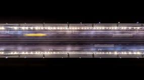 Gebiedsmening van de Elisabeth-brug bij nacht in Boedapest Hongarije royalty-vrije stock afbeelding
