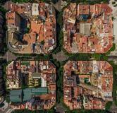 Gebiedsmening van sommige gebouwen in Barcelona, Kataluna royalty-vrije stock afbeelding