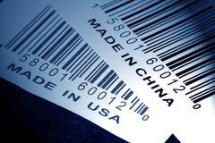 Gebildet in China oder in USA lizenzfreie stockfotos