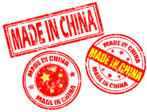 Gebildet in den China-Stempeln Lizenzfreies Stockfoto