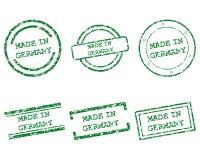 Gebildet in den Deutschland-Stempeln Lizenzfreie Stockfotografie