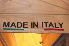 Gebildet in Italien Stockbild