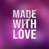 Gebildet mit Liebe Liebeszitat mit modernem Hintergrund lizenzfreie abbildung