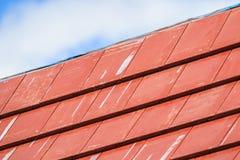 Gebildet, um einem alten hölzernen Dach zu ähneln lizenzfreie stockfotos