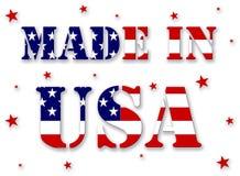 Gebildet in USA Lizenzfreies Stockbild