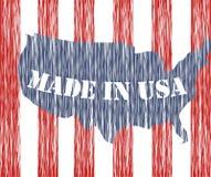 Gebildet in USA Stockbild