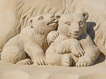 Gebildet vom Sand stockbilder
