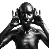 Gebildete schwarze Frau Lizenzfreie Stockfotos