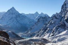 Gebirgs-Ama Dablam-Gipfel auf der Everest-Basis Stockfoto