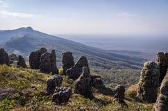Gebirgs-Landschaft, Santiago de Chiquitos, Ost-Bolivien stockfotografie