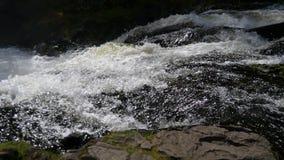Gebirgs-Wasserfall in Nord-Karelien stock footage
