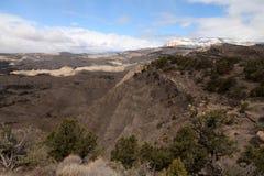 Gebirgsabnutzung in Utah, USA Stockfotografie