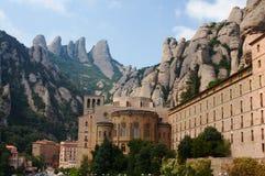 Gebirgsabtei von Montserrat Stockbilder
