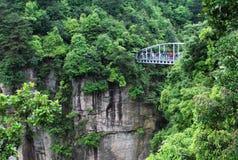 Gebirgsbrücke Stockbild