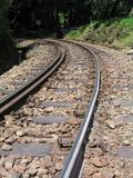 Gebirgseisenbahn-Spuren Lizenzfreies Stockfoto