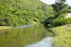 Gebirgsfluss in der Provinz Lizenzfreies Stockbild