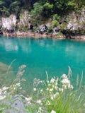 Gebirgsfluss mit blauem Wasser Lizenzfreies Stockbild