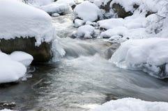 Gebirgsfrühling im Winter Stockfotografie