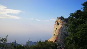 Gebirgsgesicht von Hua Shan stockfoto