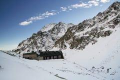 Gebirgshäuschen in hohem Tatras Stockfoto