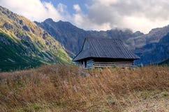Gebirgshölzerne Hütte Lizenzfreies Stockbild