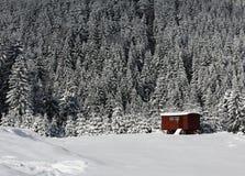 Gebirgshütte lizenzfreie stockfotos