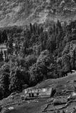 Gebirgshütte Stockbild