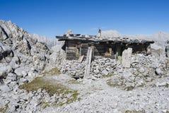 Gebirgshütte Tirol Österreich Stockbilder