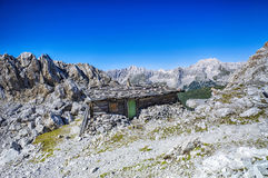 Gebirgshütte Tirol Österreich Stockbild