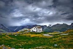 Gebirgshütten-Schutz Stockbild
