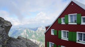 Gebirgshaus auf dem Santis Lizenzfreies Stockbild