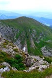 Gebirgshintergrund, Tatra-Berge, Polen Stockfotografie
