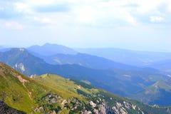 Gebirgshintergrund, Tatra-Berge, Polen Stockfoto