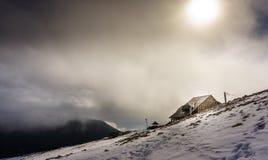 Gebirgshütte Stockfotos