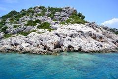 Gebirgsküste des Mittelmeeres Lizenzfreies Stockfoto