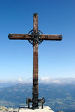 Gebirgskreuz Stockfoto