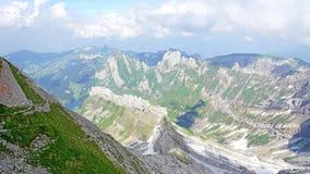 Gebirgslandschaft in Appenzellerland Stockfotos