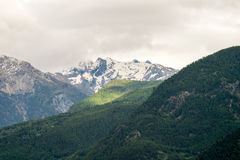 Gebirgslandschaft, Bergpanorama Stockfotografie