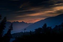 Gebirgslandschaft, Bergpanorama stockfotos
