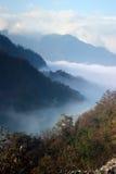 Gebirgslandschaft China-Sichuan Guangwushan Stockfoto